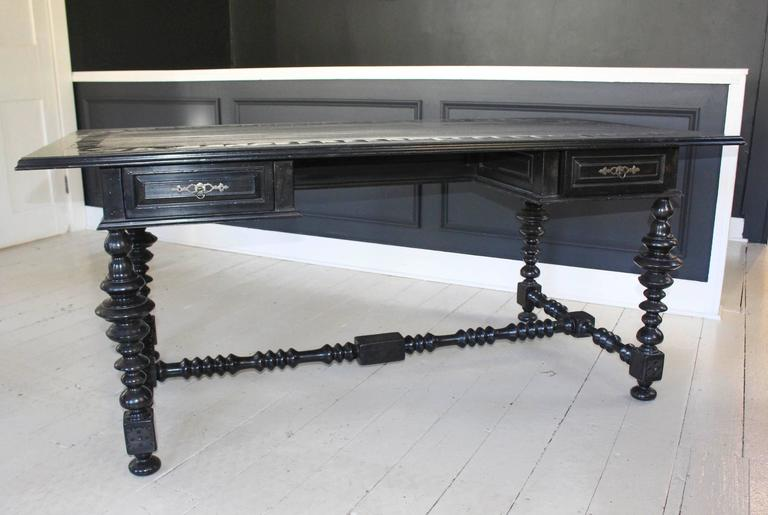 Formations Ebonized Jacobean Style Writing Table At 1stdibs