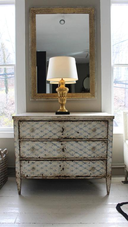19th Century French Decoratively Painted Chest For Sale 7
