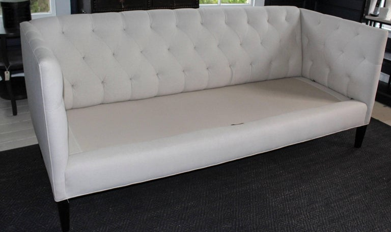 American Modern Classic Tuxedo-Style Sofa For Sale