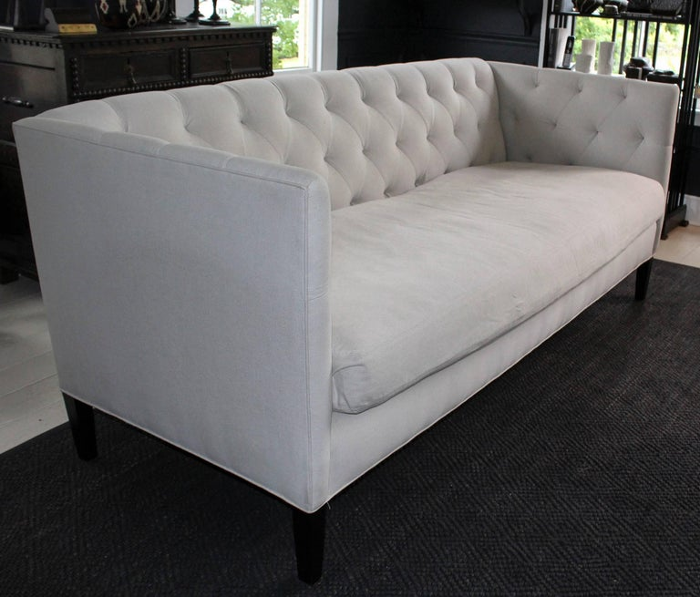 Contemporary Modern Classic Tuxedo-Style Sofa For Sale