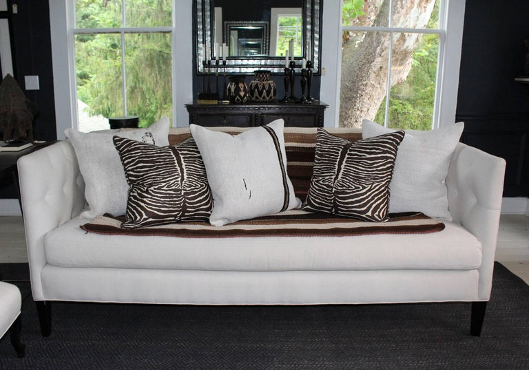 Modern Classic Tuxedo-Style Sofa For Sale 4