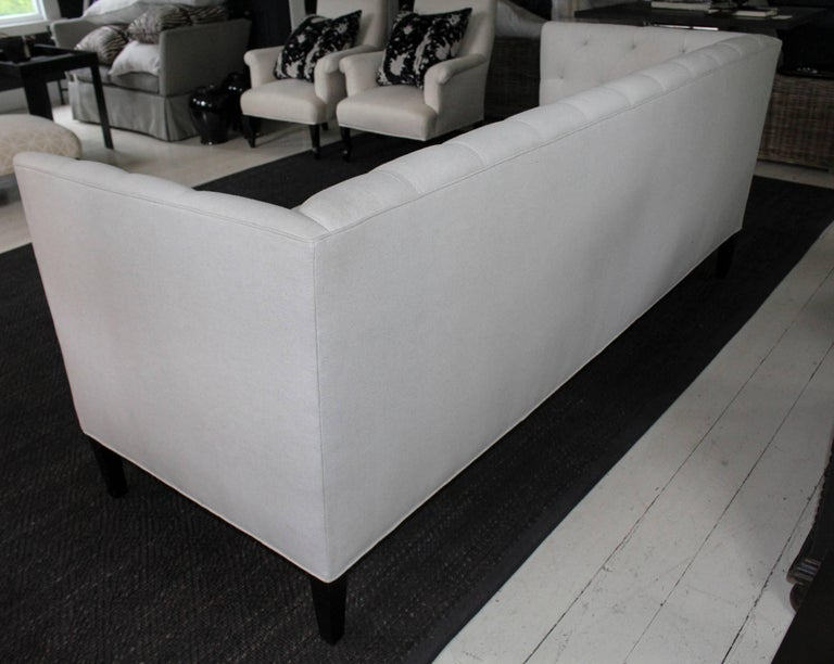 Modern Classic Tuxedo-Style Sofa For Sale 3