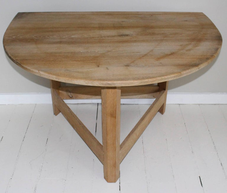 Maple Pair of Modern Demilune Tables For Sale