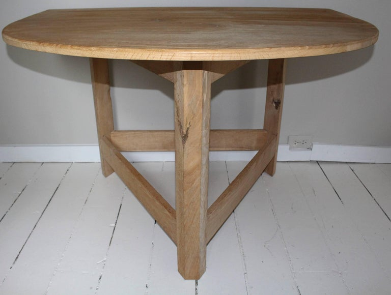 American Pair of Modern Demilune Tables For Sale