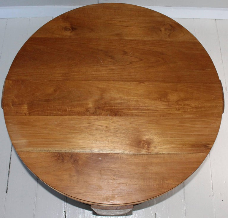 Bleached Oak Modern Circular Tiered Table 5
