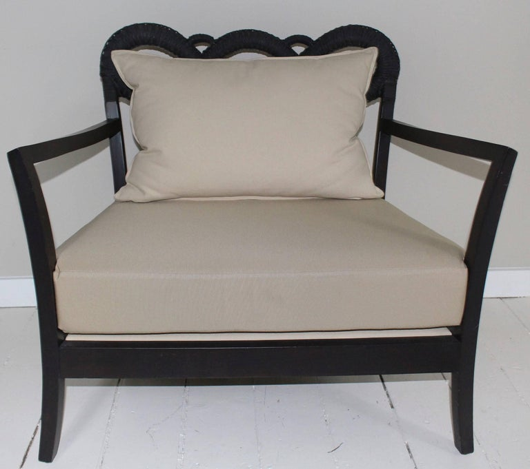 Ebonized Rope Side Chair For Sale 5