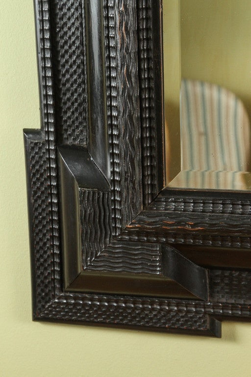 Flemish ebonized frame 17th century with mirror at 1stdibs for 17th century mirrors
