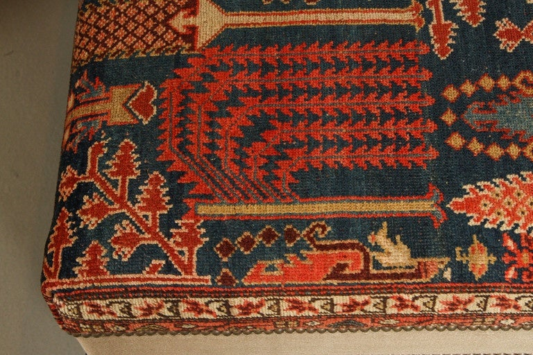 carpet ottoman. persian rug upholstered ottoman 3 carpet