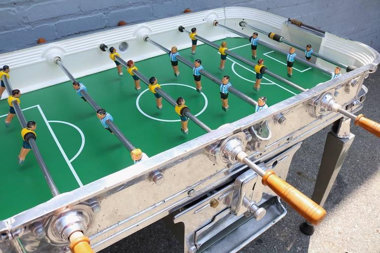 Aluminum Vintage 1960s Super Estadio Foosball Table For Sale