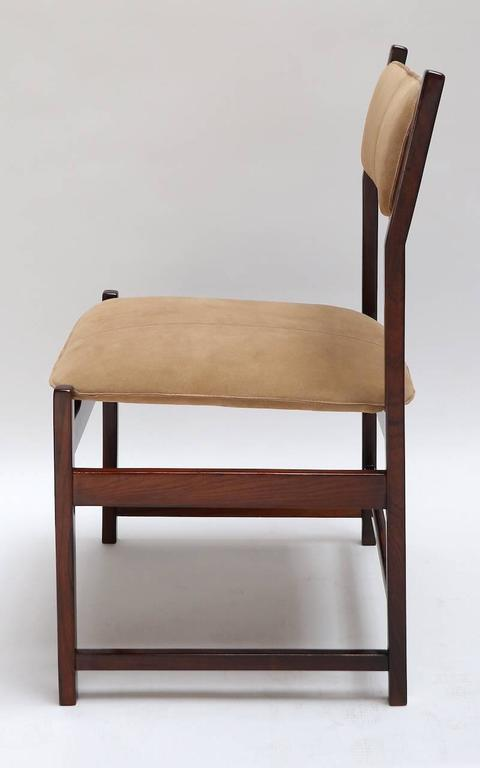 Set of L'Atelier Brazilian Jacaranda 1960s Dining Chairs In Excellent Condition For Sale In Los Angeles, CA