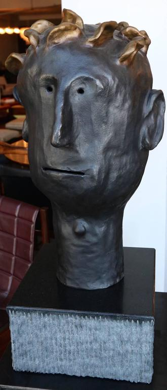 "Danny First sculpture entitled ""Leroy"" in bronze with granite base. Created in 2011. Limited Edition 3 of 5."