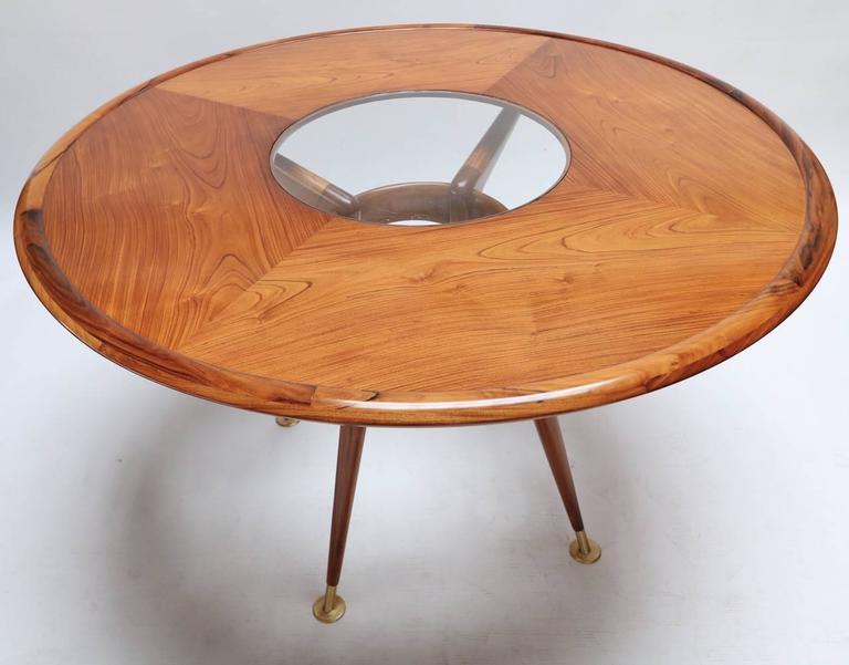 Liceu de Artes 1960s Brazilian Caviuna Dining Table  In Excellent Condition For Sale In Los Angeles, CA