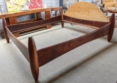 Sergio Rodrigues 1960s Brazilian Jacaranda King Bed