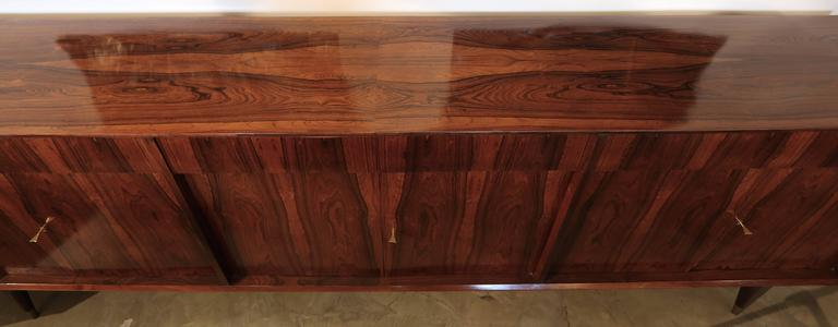 Long Brazilian Jacaranda Sideboard For Sale 4