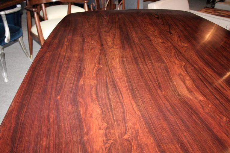Llidio 1960s Brazilian Jacaranda Dining Table by Sergio Rodrigues For Sale 1