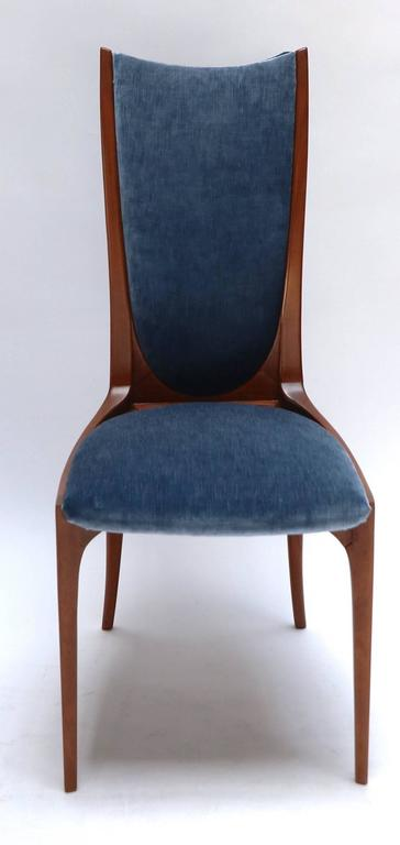 Mid-Century Modern Set of Ten 1960s Brazilian Caviuna Dining Chairs For Sale