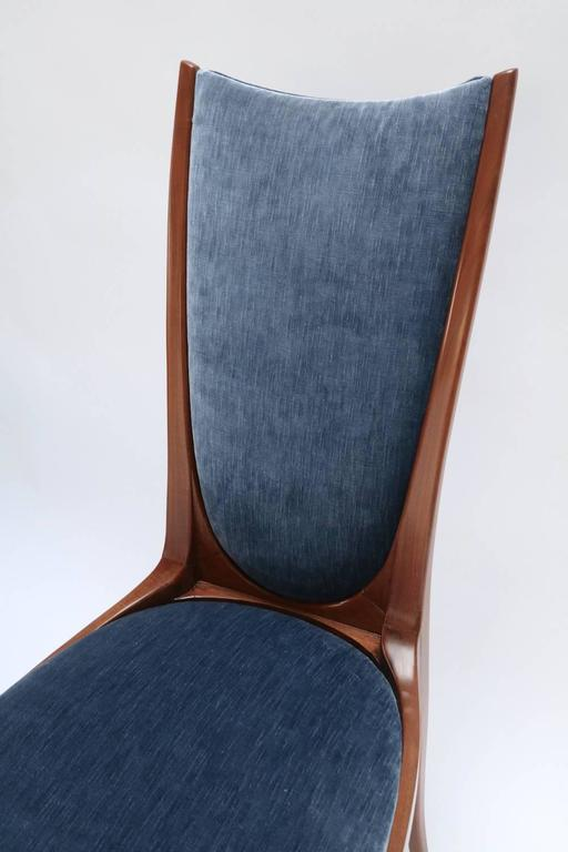 Mid-20th Century Set of Ten 1960s Brazilian Caviuna Dining Chairs For Sale