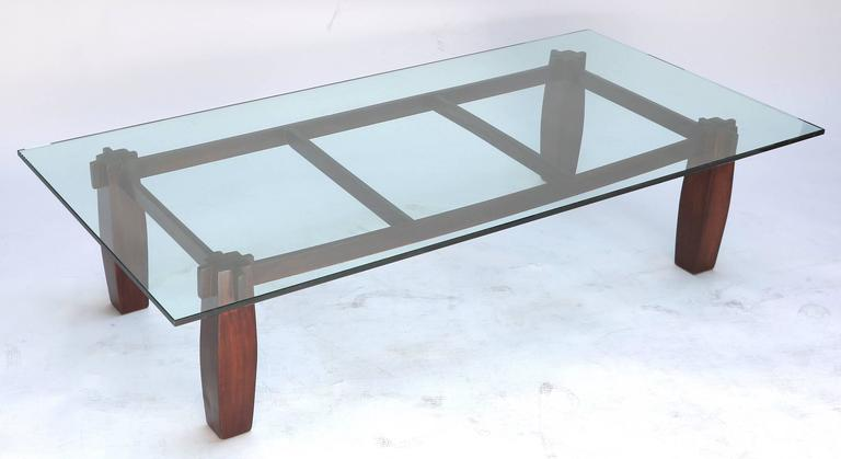 Long 1960s Brazilian Jacaranda Coffee Table by Jorge Zalszupin 7