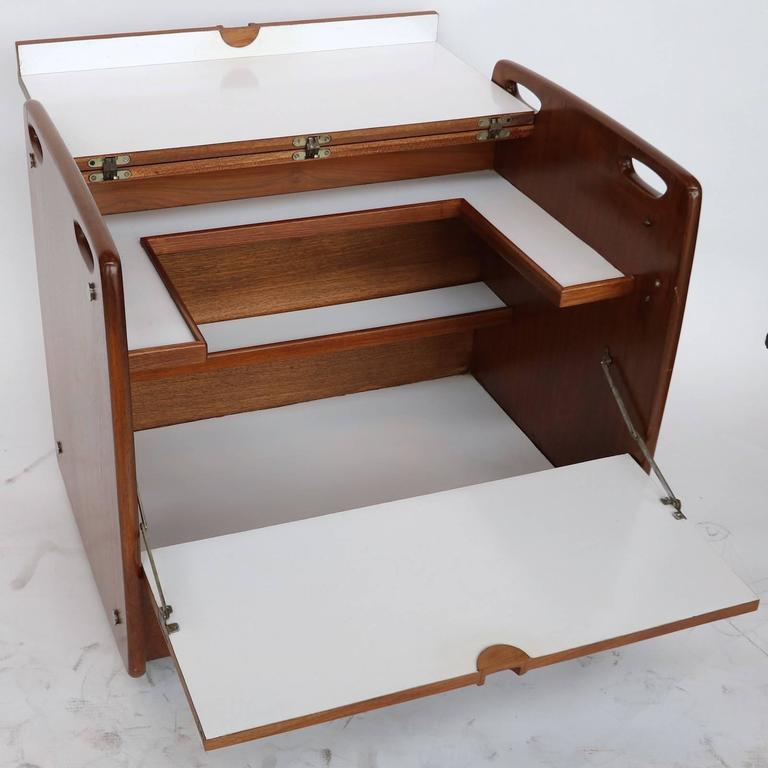 1970s Sergio Rodrigues Brazilian Jacaranda Bar Cart 5