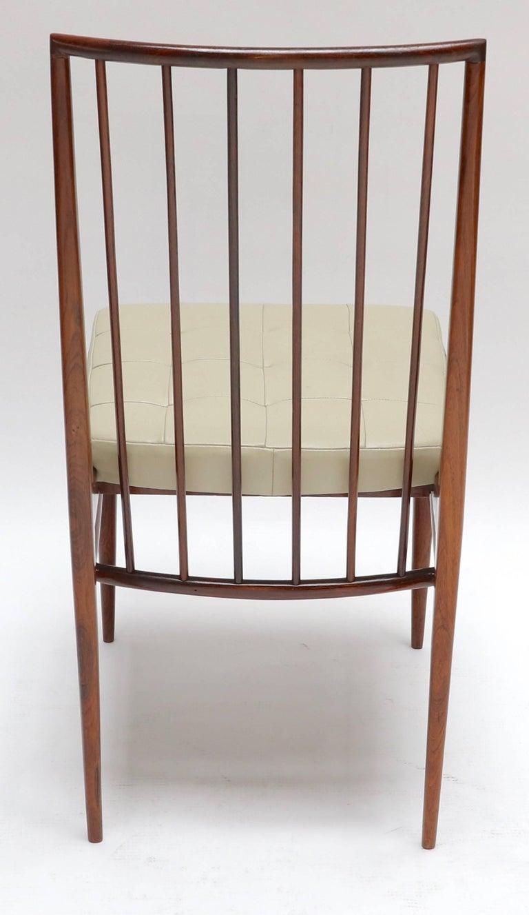 Mid-20th Century Set of Six 1940s Tenreiro Style Brazilian Jacaranda Dining Chairs For Sale