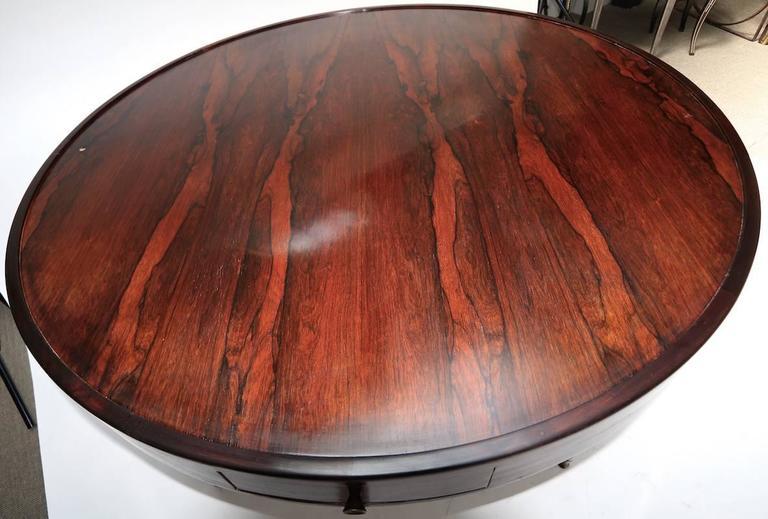 Mid-Century Modern 1960s Brazilian Jacaranda Center / Card Table For Sale