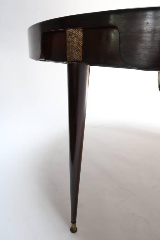 1960s Brazilian Jacaranda Center / Card Table For Sale 2