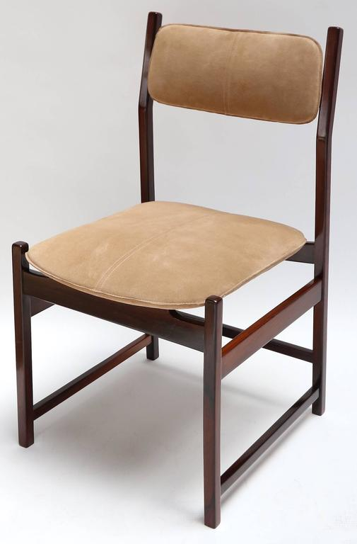 Mid-20th Century Set of L'Atelier Brazilian Jacaranda 1960s Dining Chairs For Sale