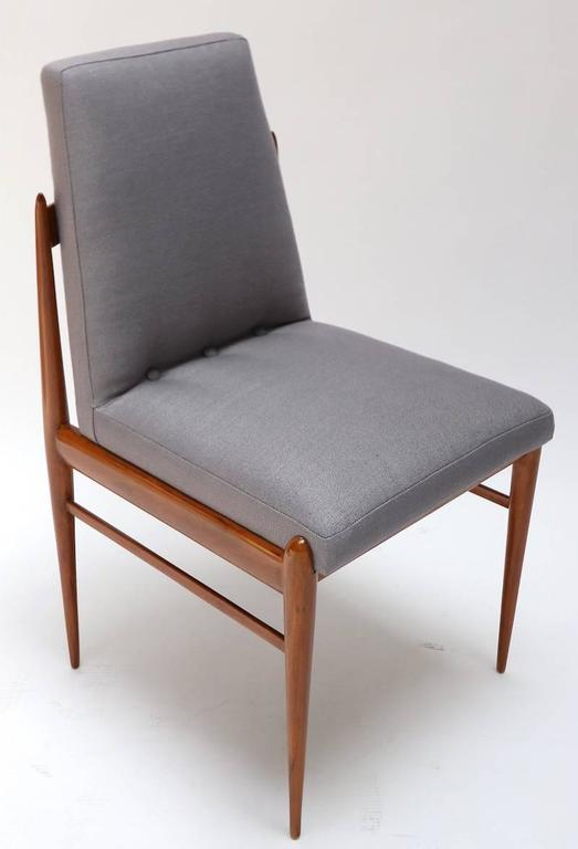 Mid-20th Century Set of Ten 1960s Brazilian Caviuna Dining Chairs by L'Atelier For Sale