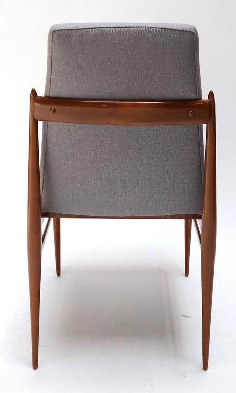 Set of Ten 1960s Brazilian Caviuna Dining Chairs by L'Atelier For Sale 1