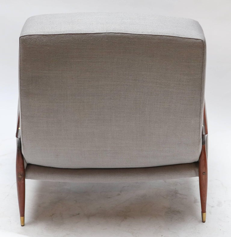 Pair of Scapinelli Brazilian Jacaranda Armchairs In Good Condition For Sale In Los Angeles, CA