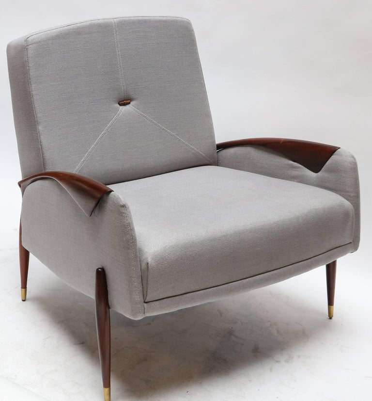 Mid-20th Century Pair of Scapinelli Brazilian Jacaranda Armchairs For Sale