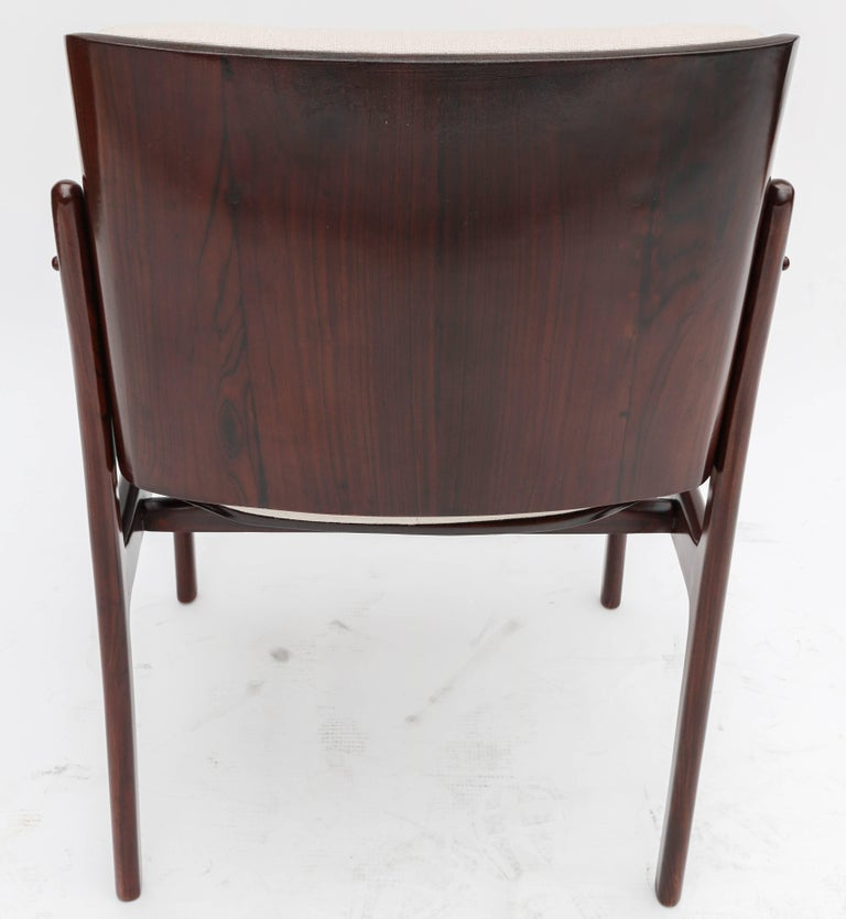 Set of Ten 1960s Concha Brazilian Jacaranda Dining Chairs In Good Condition For Sale In Los Angeles, CA