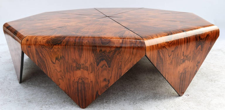 Jorge Zalszupin 1960s Brazilian Jacaranda Petalas Coffee Table For Sale 2