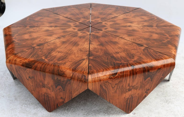 Jorge Zalszupin 1960s Brazilian Jacaranda Petalas Coffee Table In Good Condition For Sale In Los Angeles, CA