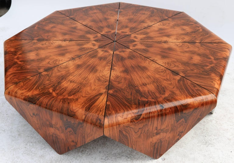 Mid-Century Modern Jorge Zalszupin 1960s Brazilian Jacaranda Petalas Coffee Table For Sale