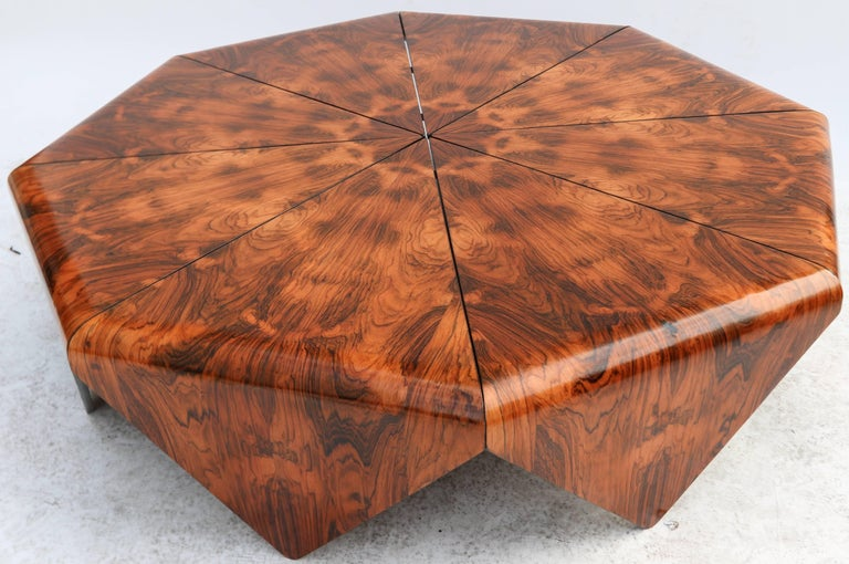 Jorge Zalszupin 1960s Brazilian Jacaranda Petalas Coffee Table For Sale 3