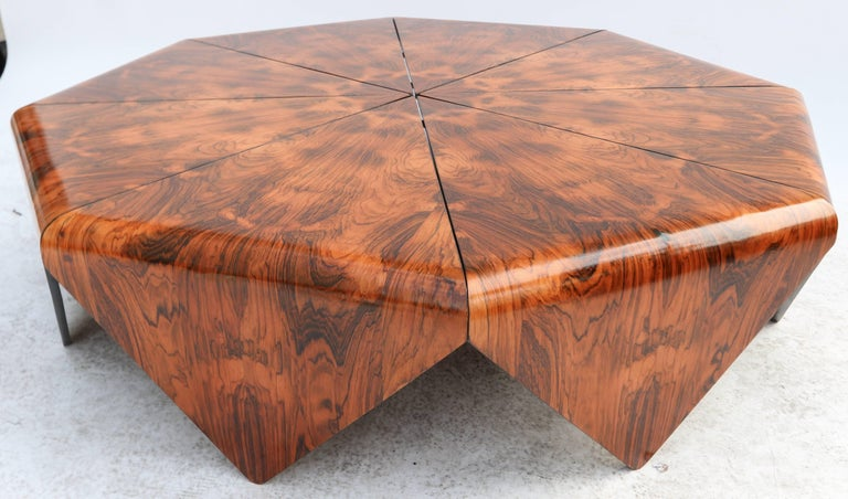 Jorge Zalszupin 1960s Brazilian Jacaranda Petalas Coffee Table For Sale 1