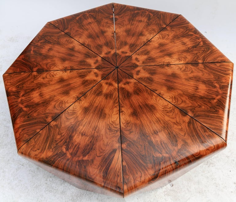 Mid-20th Century Jorge Zalszupin 1960s Brazilian Jacaranda Petalas Coffee Table For Sale