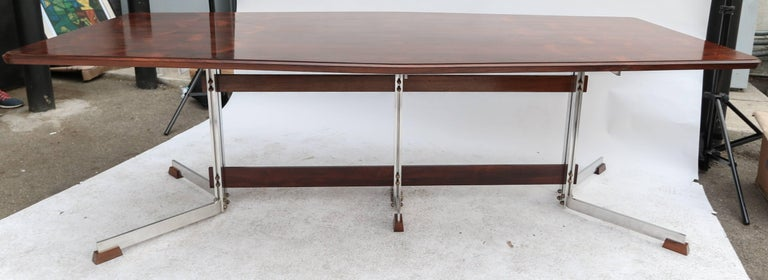 Mid-20th Century Brazilian Jacaranda 1960s Dining Table for Eight by Liceu de Artes For Sale