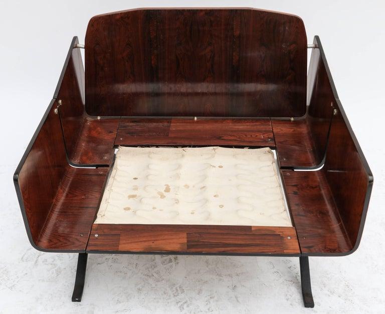 Mid-20th Century Brazilian Jacaranda 1960s Novo Rumo Lounge Chairs For Sale
