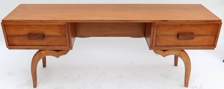 Console table/desk by Scapinelli in Brazilian caviuna wood with four drawers.