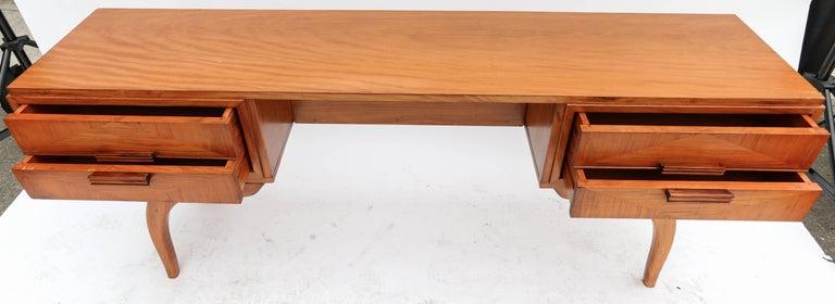 Rosewood Scapinelli 1960s Brazilian Caviuna Console Table Desk For Sale