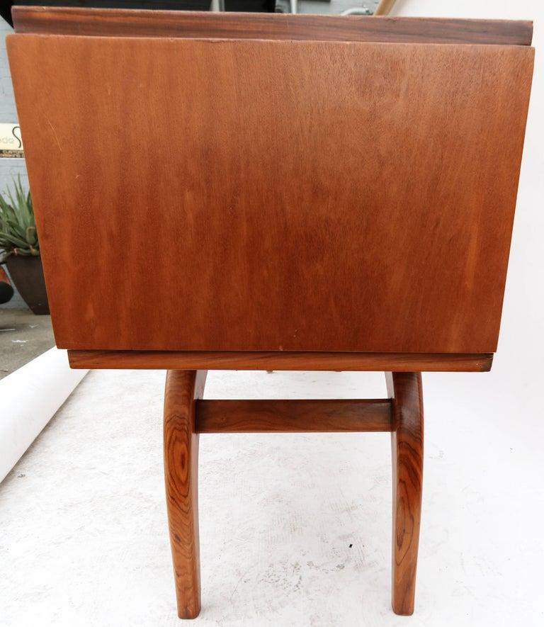 Scapinelli 1960s Brazilian Caviuna Console Table Desk For Sale 2