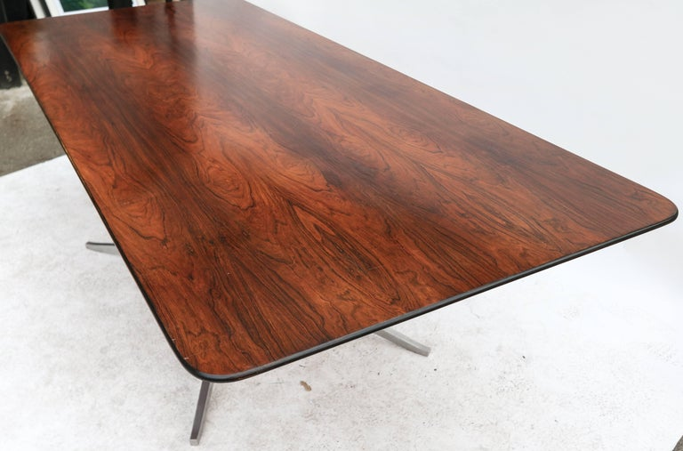 Mid-20th Century 1960s Brazilian Jacaranda Dining Table by Forma For Sale