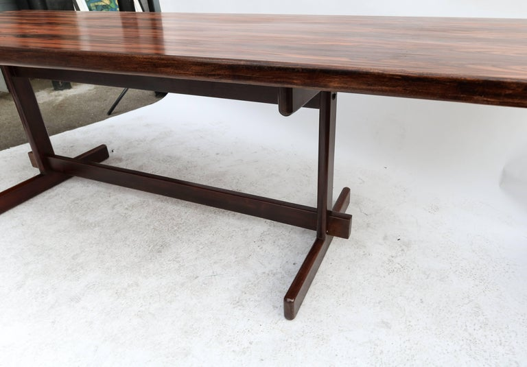 1960s Brazilian Jacaranda Dining Table For Sale 1