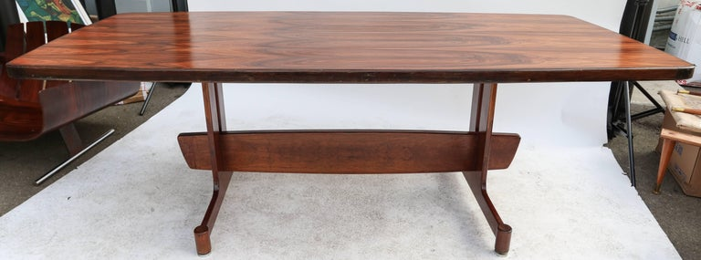 1960s Brazilian Jacaranda Dining Table For Sale 4