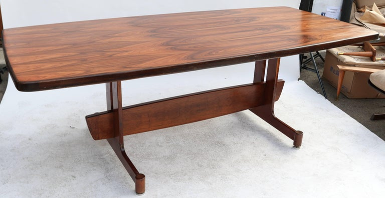 Mid-Century Modern 1960s Brazilian Jacaranda Dining Table For Sale
