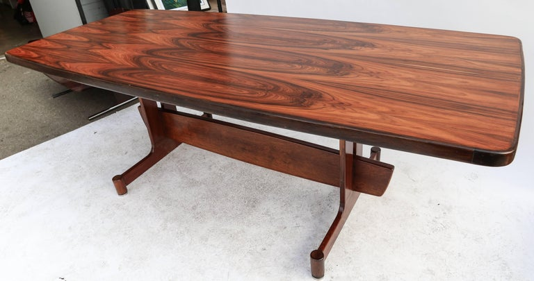 1960s Brazilian Jacaranda Dining Table For Sale 3