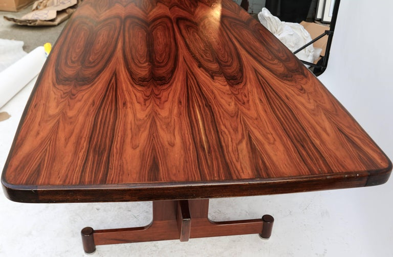 1960s Brazilian Jacaranda Dining Table For Sale 2