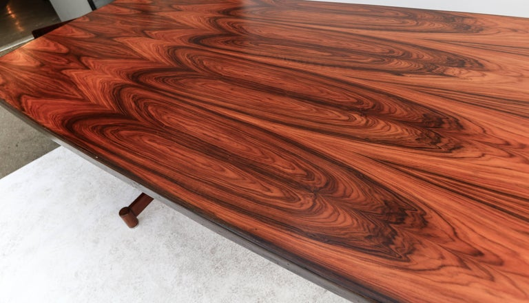 Mid-20th Century 1960s Brazilian Jacaranda Dining Table For Sale